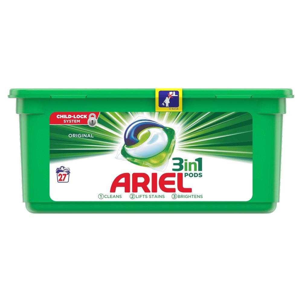 Ariel 3in1 Pods Original Washing Liquid Capsules 27 Washes £4.50 instore @ Premier Stores