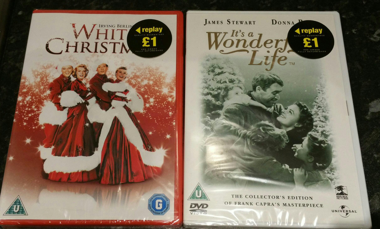 White Christmas/A Wonderful Life DVDs £1 @ Poundland