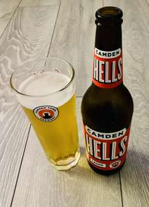 Free Glass with every 660ml bottle of Camden Hells Beer £2 each @ Adsa