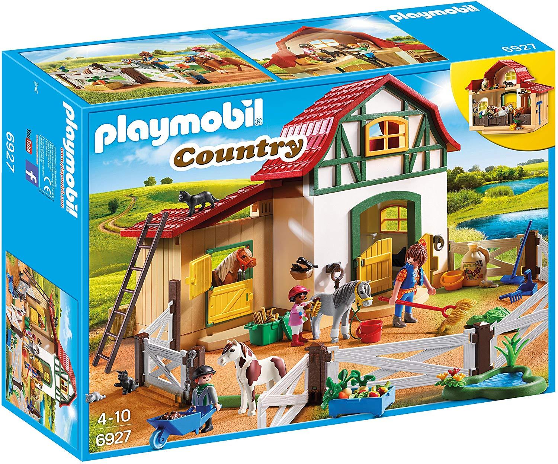 Playmobil 6927 Country Pony Farm with 2 Pony Stalls and Storage Loft - £26.99 @ Amazon