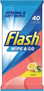 """Get """"free delivery"""" on Amazon Pantry - 56p each Flash Wipes (£2.36 total)"""