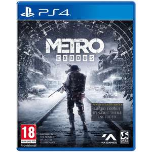METRO EXODUS [PS4] for £12.99 free C&C Only @ SmythsToys
