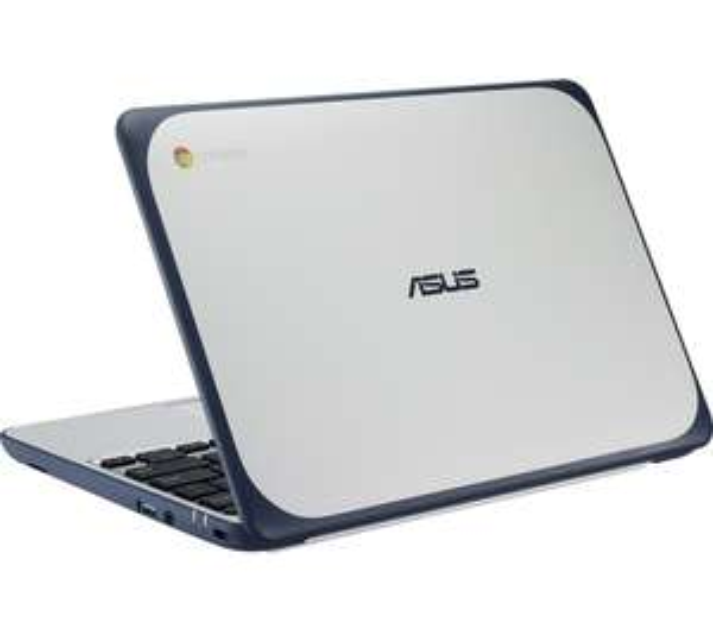 "ASUSC202 11.6"" Intel® Celeron™ Chromebook - 16 GB eMMC, White & Blue £129 at Currys PC World"