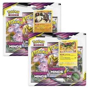 Pokémon TCG: Sun & Moon 11 Unified Minds Blister 3-Pack, Mixed Colours £10.59 Prime / £15.08 Non Prime at Amazon