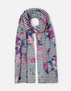 Joules 209914 Printed Scarf in NAVY STRIPE FLORAL in One Size £12.95 @ ebay / Joules