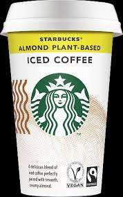3 X 220ml Cups, Starbucks, Fairtrade Almond Plant-Based Iced Coffee £1 at Heron Foods Abbey Hulton