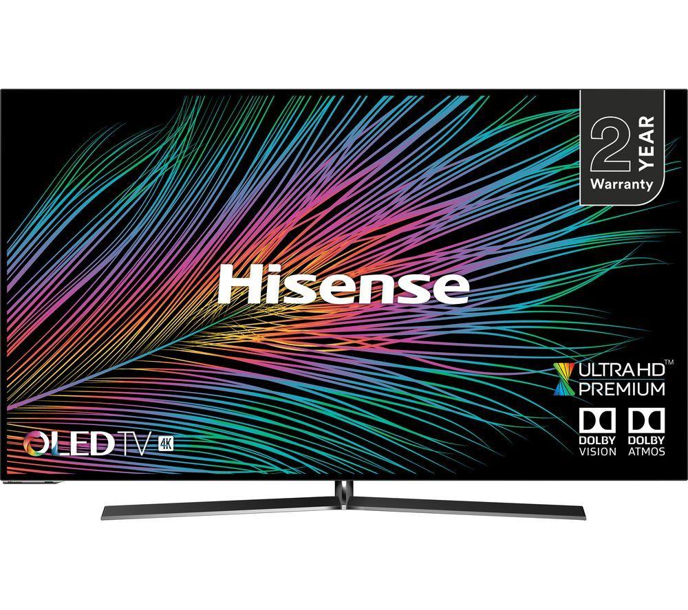 "HISENSEH55O8BUK 55"" Smart 4K Ultra HD HDR OLED TV £999 @ Currys"
