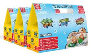 Gelli Baff Multipack (9 slime, 6 gelli, 6 dissolvers, 18 crackle) so £20.68 With Code @ Groupon