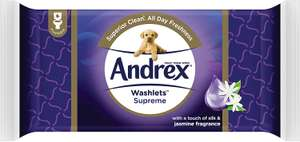 10 x 40 Andrex Washlets Flushable for £2.50 Toilet Tissue Wipes (Buy 10 get £10 off) Amazon Prime Now (+£3.99 delivery)