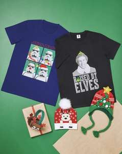 Buddy the Elf / Star Wars men's Christmas T-shirts at Aldi £5.99, £2.95 delivery or free on orders over £20