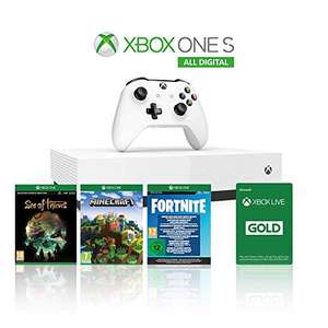 Xbox One S 1TB All Digital Edition Console + 1 Month Xbox Live Gold + 3 Digital Games Included £117.53 @ Amazon Italy