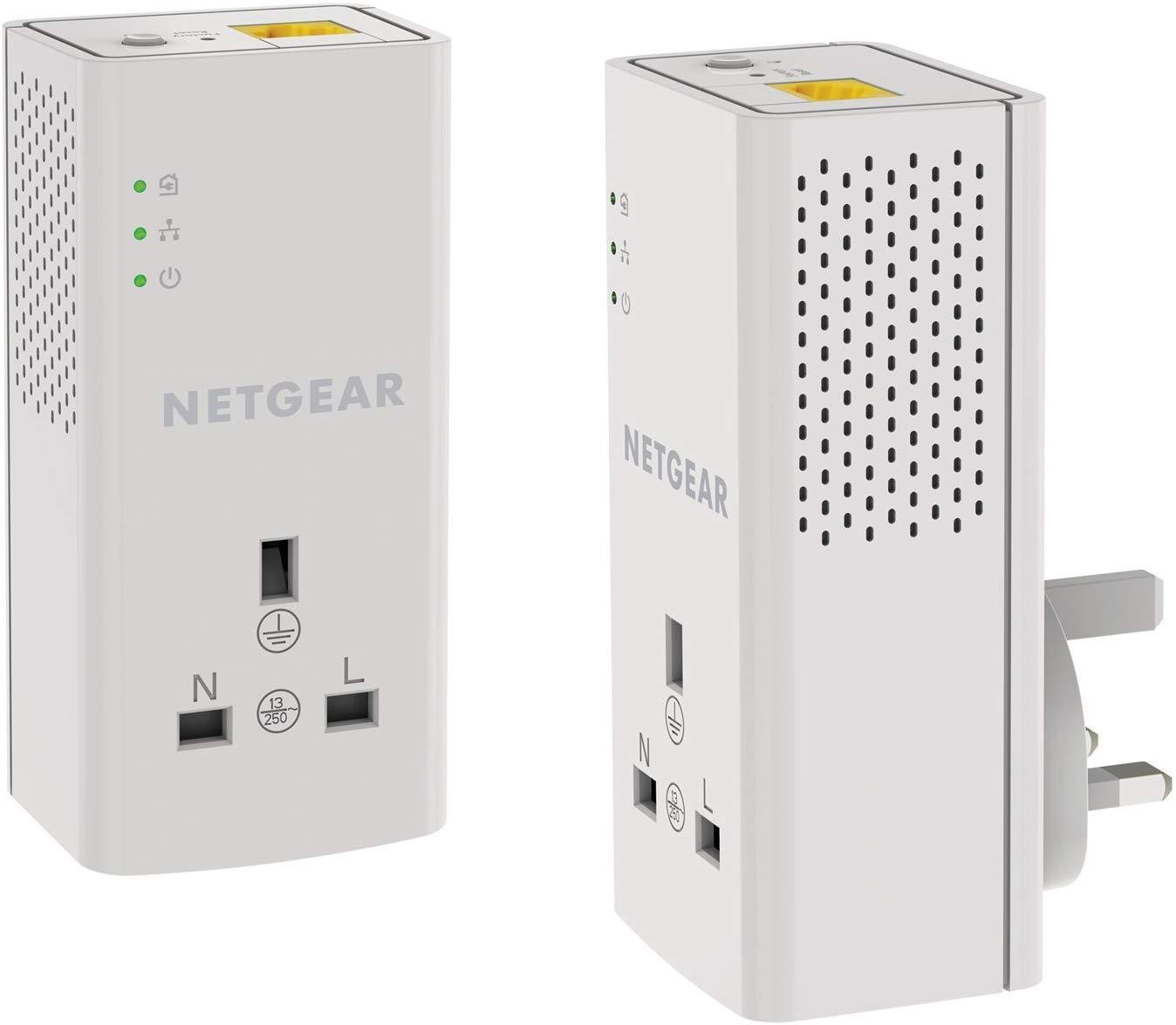 Netgear 1000Mbps (1 Gigabit) Powerline Kit & Pass Through (Pack of 2) - £34.99 Delivered @ Amazon