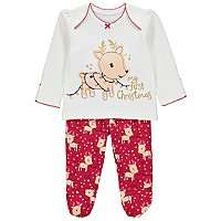 My First Christmas Baby Reindeer Pyjamas (All sizes available - other items see description) £2.80 @ Asda (Free Click & Collect)
