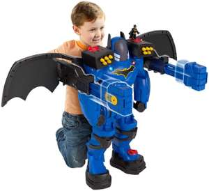 Imaginext FGF37 Bat Bot Xtreme 2 ft Tall Batman Toy Figure with Voice Changer, Lights and Dart Launcher - £54.00 @ Amazon