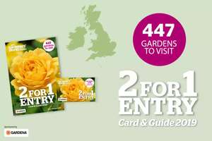 2 for 1 Entry to 447 gardens only £4.49 at Gardeners World