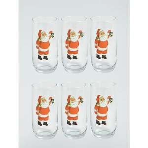 Asda George Home - Santa Hiball Glass £0.75 each