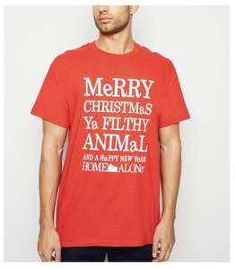 Home Alone Merry Christmas ya Filthy Animal Mens t-shirt at New Look half price £6.49, £1.99 click and collect or free on orders over £20