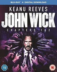John Wick: Chapters 1 & 2 [Blu-ray] for £7.65 Prime/£8.64 Non Prime Delivered @ Amazon UK