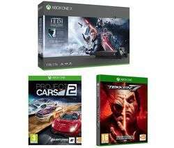 Microsoft Xbox one X star wars Jedi fallen order deluxe edition/Tekken 7/project cars 2 - £299 Currys
