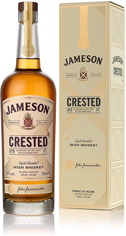 Jameson Crested Irish Whiskey, 70 cl £21.99 Amazon