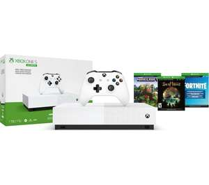 MICROSOFT Xbox One S All-Digital Edition with Minecraft, Sea of Thieves, Fortnite & Xbox LIVE Gold Subscription £149 Currys