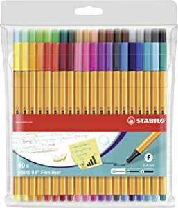 STABILO point 88 Wallet of 40 Assorted Colours £16.99 at Amazon (+£4.49 Non-prime)