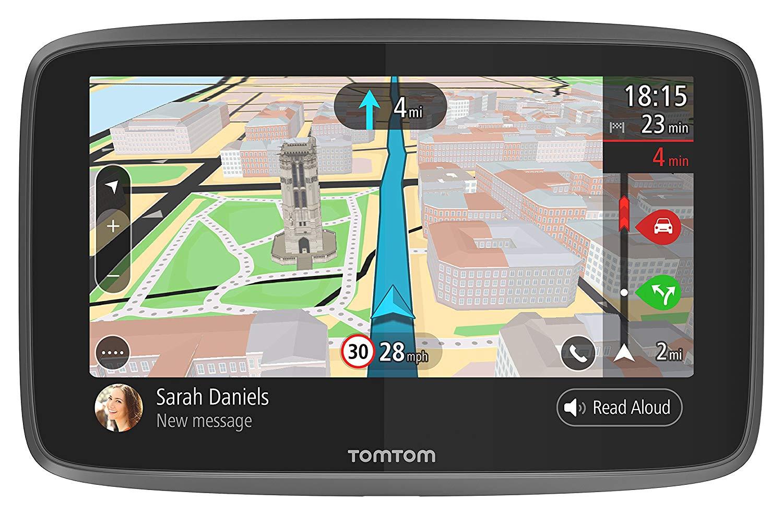 TomTom 6200 SatNav, 6 inch, google now, Sim card with lifetime maps and traffic etc £194.99 @ Amazon