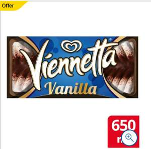 Viennetta Vanilla Ice Cream Dessert 650Ml £1@ tesco