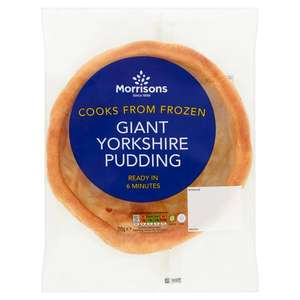 Morrisons Giant Yorkshire Puddings 50p each or 3 For £1 Instore & Online