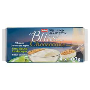 Muller Bliss 4 x 100g lime cheesecake inspired whipped yoghurts now £1 @ Morrisons