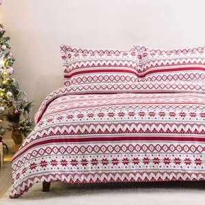 Bedsure Christmas Duvet Cover Set Double Size £9.44 (Prime) / £13.93 (non Prime) Sold by Bedsure Direct and Fulfilled by Amazon