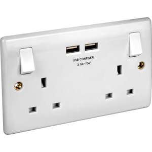 X2 BG USB Switched Socket 3.1A for £16 or £9.99 each @ Toolstation