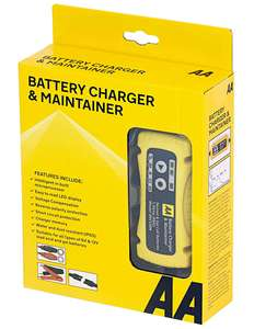 AA Battery Charger & Maintainer, For 6V & 12V Lead Acid and Gel Batteries - Black/Yellow - £20.64 delivered @ Amazon