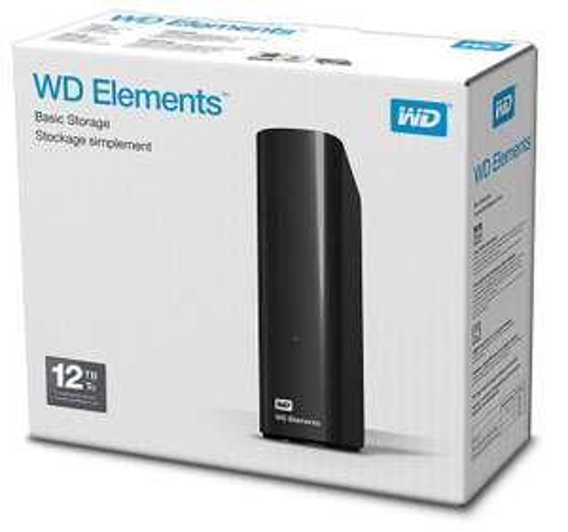 WD 12TB Elements Desktop External Hard Drive - USB 3.0 - £154.99 delivered @ Amazon
