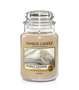 Yankee Candle Large Jar Scented Candle, Warm Cashmere, Up to 150 Hours Burn Time £11.99 @ Amazon Prime / £16.48 Non Prime