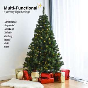 Home Treats Pre Lit Christmas Tree | Artificial Xmas Tree With Metal Stand & Lights £64.99 Sold by HOME TREATS and Fulfilled by Amazon.