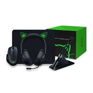Razer Kitty Gaming Bundle with Basilisk Essential, Kraken X Lite, Goliathus Mat, Mouse Bungee V2 & Kitty Ears £87.41 at Amazon France