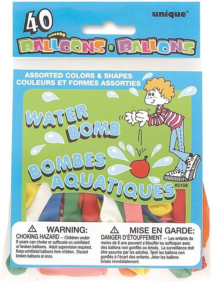 40 water balloons 39p @ Amazon add on item