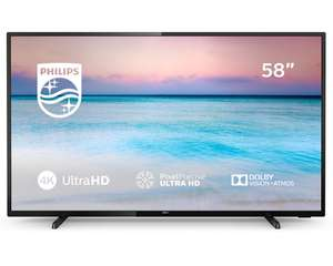Philips 58 Inch 58PUS6504 4K Ultra HD HDR Freeview Play Smart WiFi LED TV £405.10 eBay