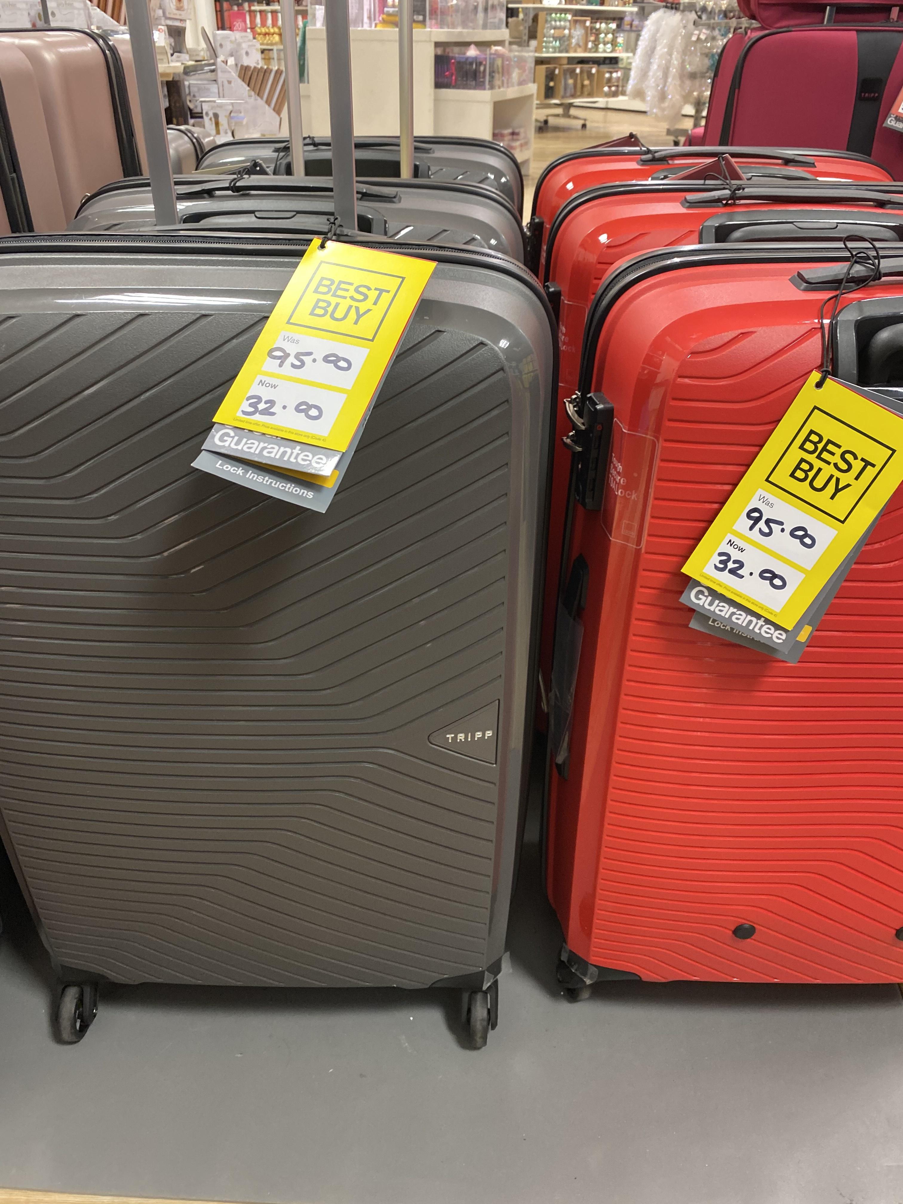 Tripp - Black 'Chic' Medium 4 Wheel Expandable Suitcase 66 litre £32 @ Debenhams (Bedford)