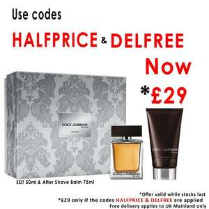 Dolce & Gabanna The One For Men Eau De Toilette 50ml & After Shave Balm 75ml Gift Set £29 Delivered using codes @ Beauty Base
