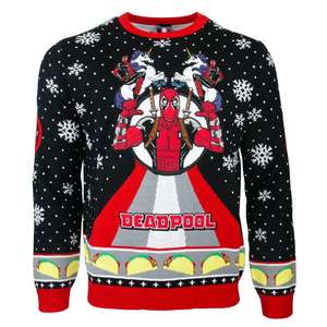 Marvel Deadpool Unicorn Christmas Jumper £19.99 Using Code @ Geekstore