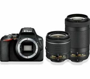NIKON D3500 DSLR Camera Twin Lens Bundle £359.10 at Currys/ebay with code
