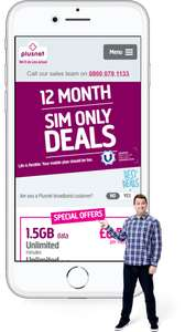 Unlimited Fibre Broadband Including Line Rental and no activation fee £22.75 / 18 months at Plusnet