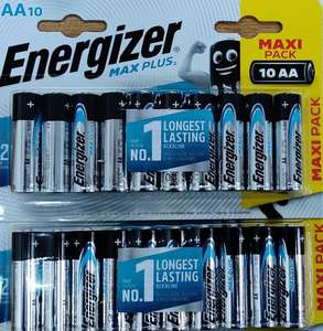 Energizer Max Plus 10 AA Pack 2 for £8.50 @ Sainsubry's (Maidenhead)