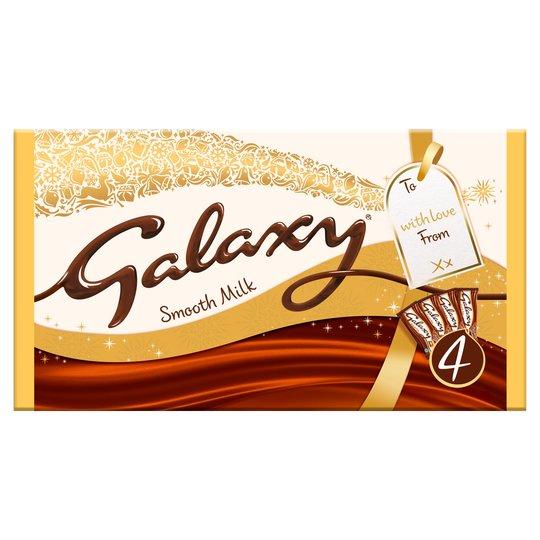 Galaxy Large Novelty Bar 4X200g £4 @ Tesco