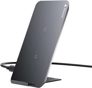 Baseus Dual Coil Qi Wireless Fast Charger Pad / Stand - Black 10W/5W £8.99 + £4.49 NP Sold by OPEX DEALS and Fulfilled by Amazon.