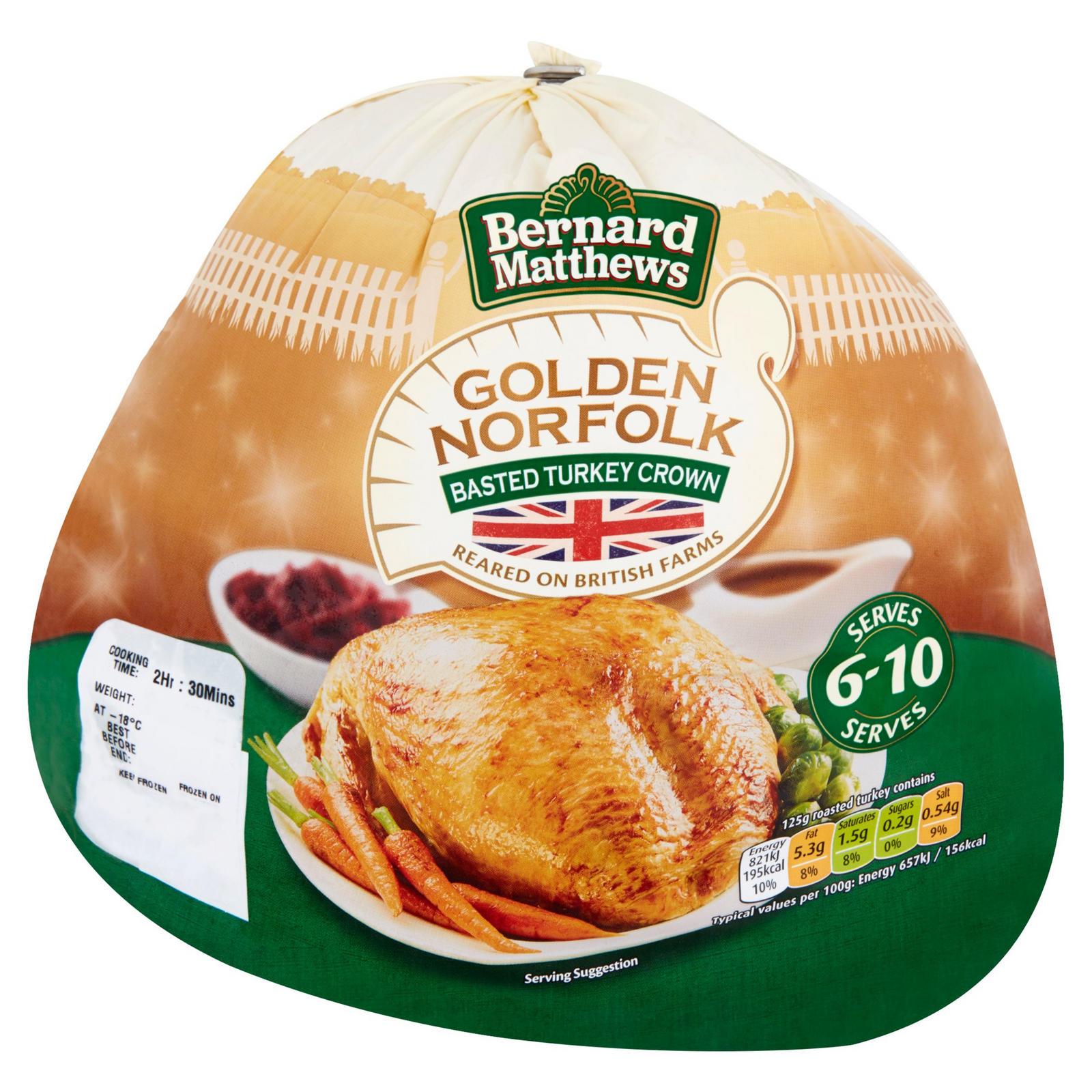 Bernard Matthew's Medium Turkey Crown 2-3kg £10 @ Iceland
