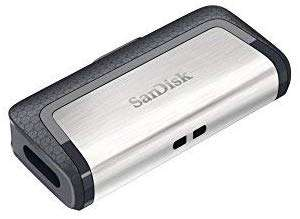 SanDisk Ultra 128 GB Dual Type-C USB 3.1 Flash Drive £16.99 + £2.99 NP @ Amazon