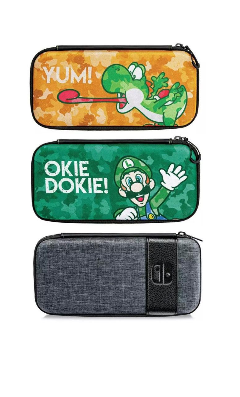 Nintendo Switch Travel Case (Luigi Camo / Yoshi Camouflage / Elite Edition) - £3.99 each delivered @ Clovetechnology/eBay